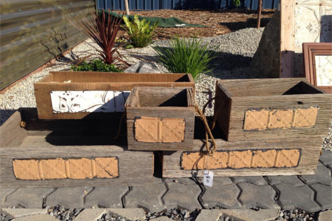 Rustic Planter Boxes